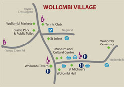 Wollombi Map, Hunter Valley