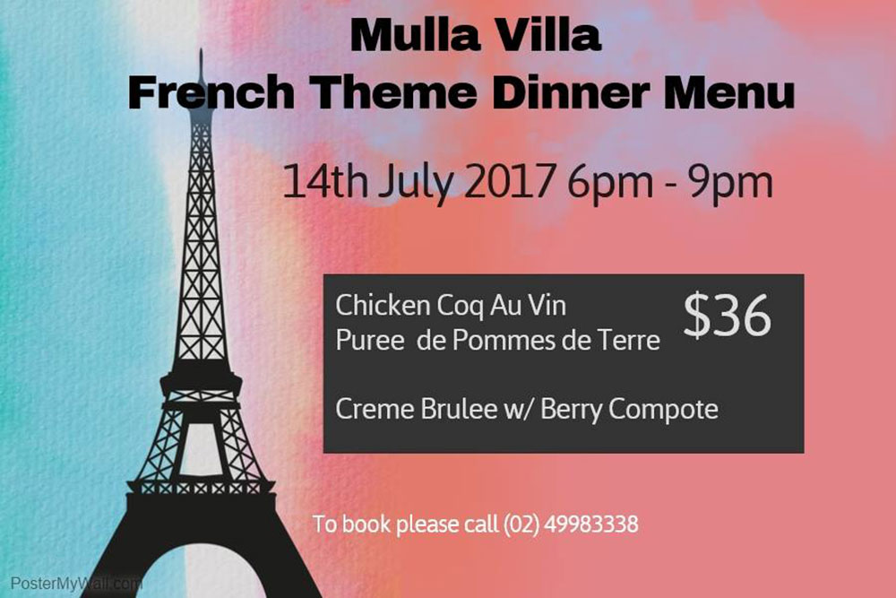 French Themed Dinner