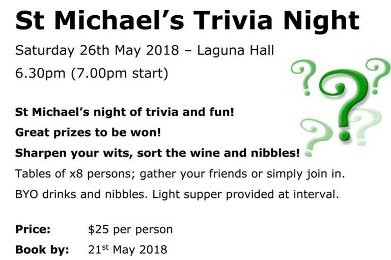 St Michaels Church Trivia Night, Wollombi