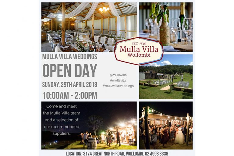 Mulla Villa Wedding Open Day, Hunter Valley