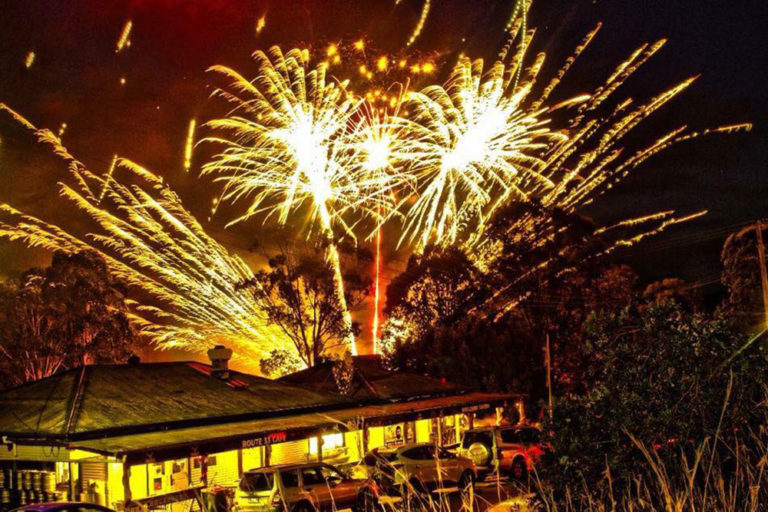 New Years Eve Fireworks, Wollombi Tavern, Hunter Valley