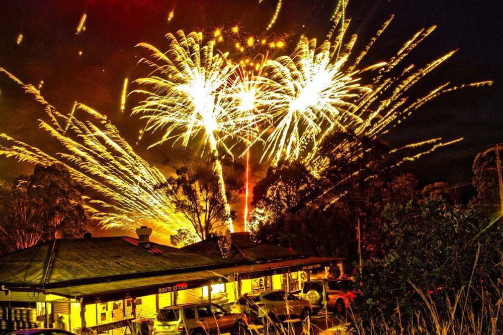 NYE Fireworks at Wollombi