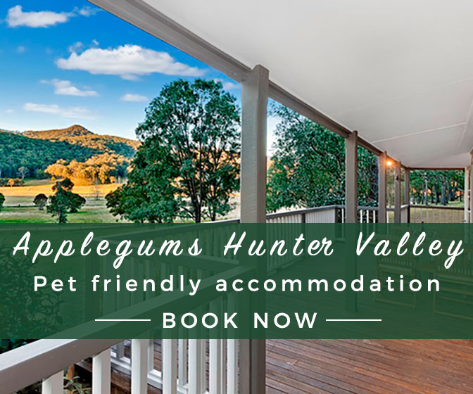 Applegums, Hunter Valley pet friendly accommodation