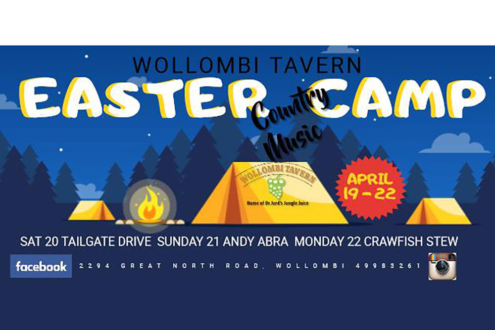 Easter Camp at Wollombi Tavern