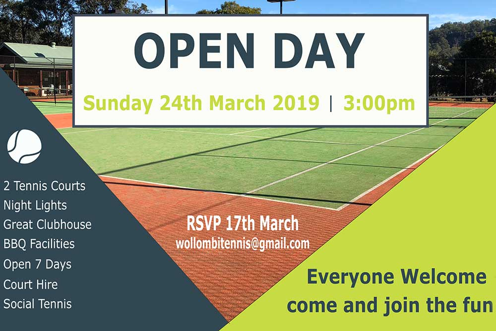 Wollombi Tennis Open Day