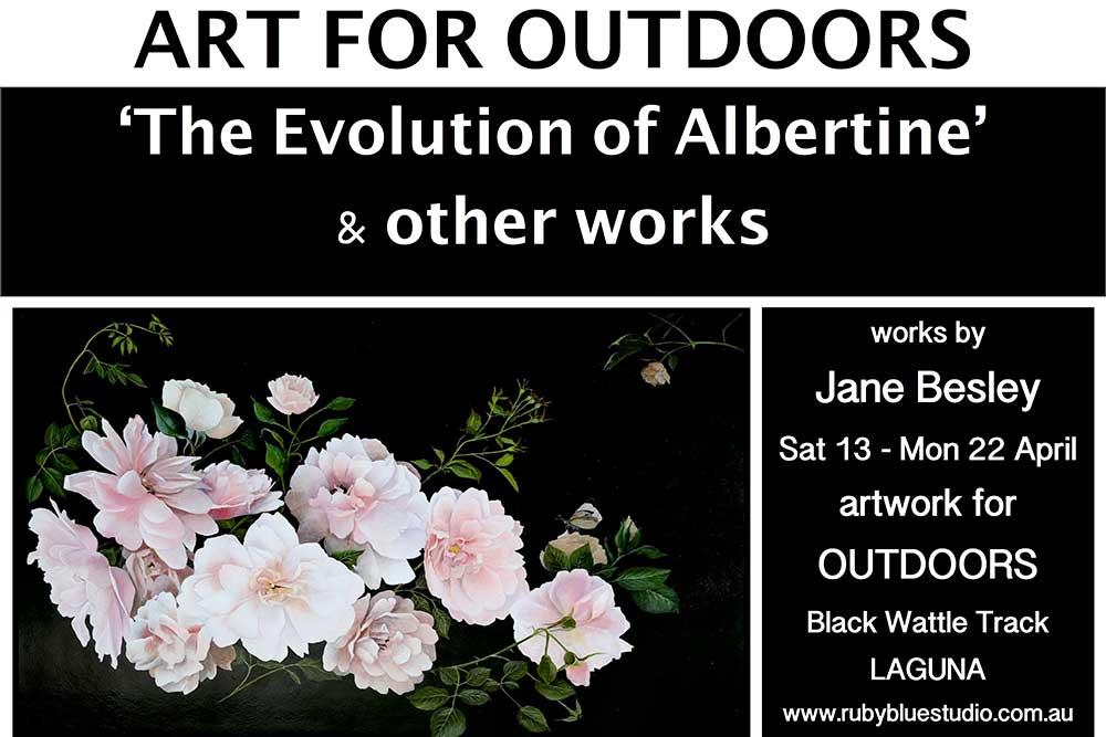 "Outdoor Art Exhibition: ""The Evolution of Albertine"""