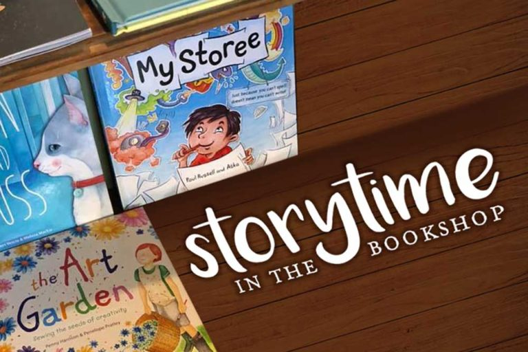 Storytime in the Bookshop, Myrtle House, Wollombi