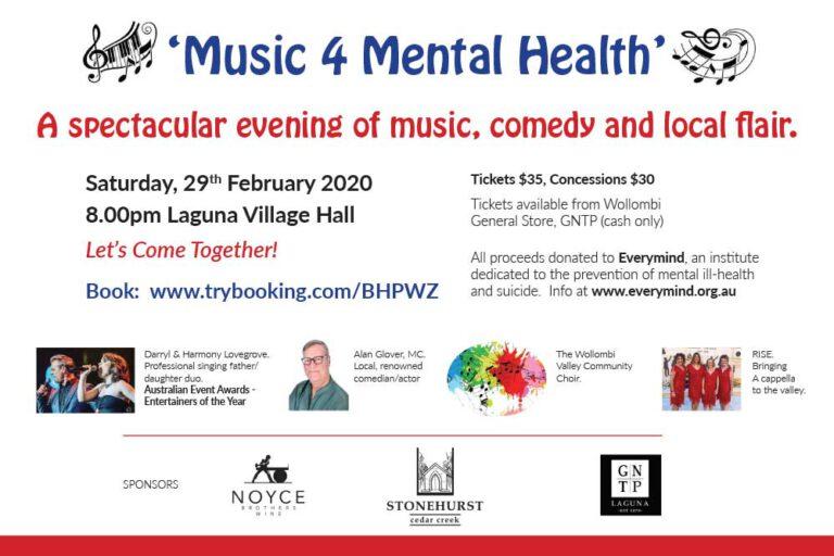 Music 4 mental Health, Wollombi Fundraiser