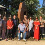 Sculpture in the Vineyards Locals Prize winner, Amanda Lockton's 'Lost Language', installed in heart of Wollombi